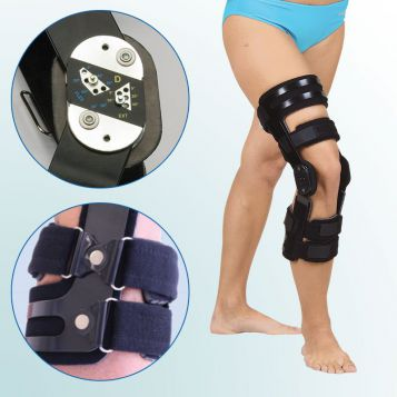 - Knee Joint Orthesis with limited range of motion – rigid frame – anteroposterior