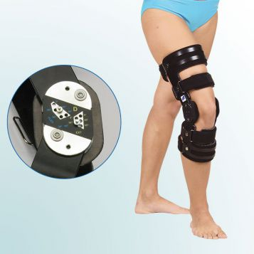 - Knee Joint Orthesis with limited range of motion – rigid frame