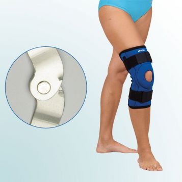 - Knee Joint Orthesis – short curative with hinge – shaped cut