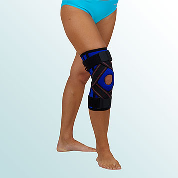 - Knee Joint Orthesis – sleeve-type with support and cross-pull